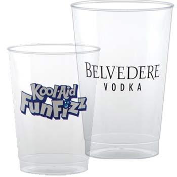 custom printed clear plastic cups